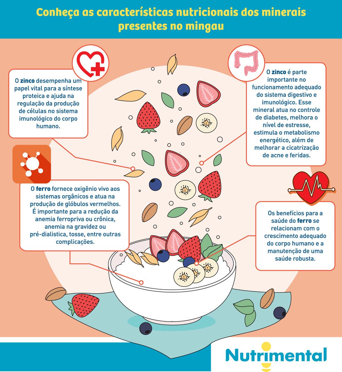 Conheça as características nutricionais dos minerais presentes no mingau