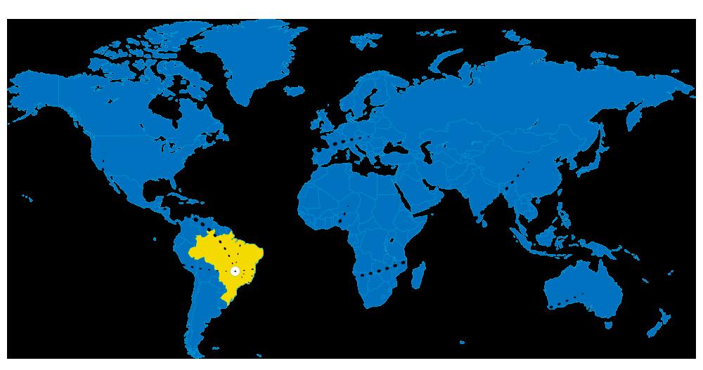 Mapa de Exportação da Nutrimental