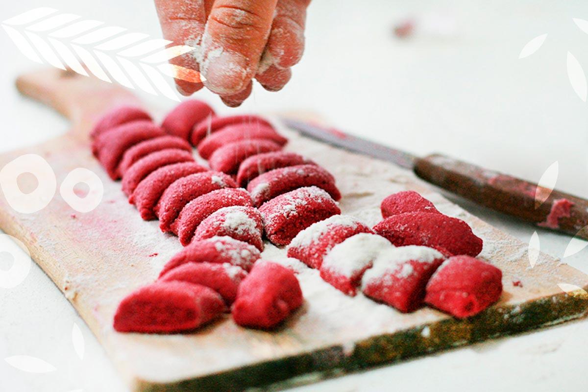Nhoque de Beterraba e Batata em Flocos - Receitas Food Ingredients