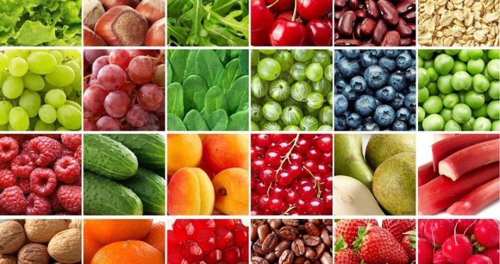 frutas, verduras e legumes alimentos ricos em fibras