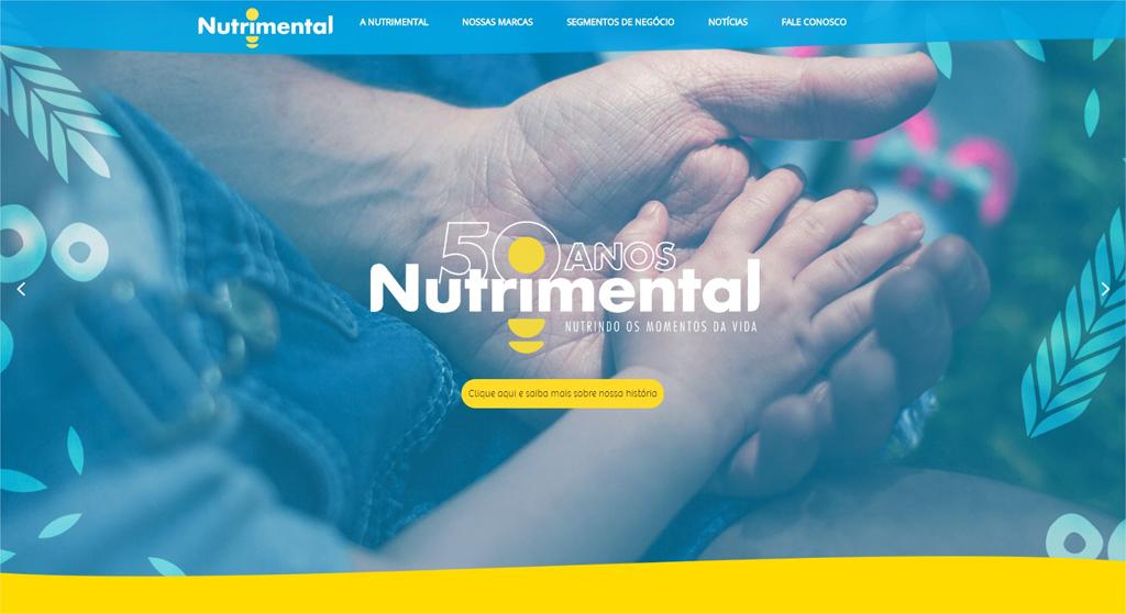 maos unidas em apoio. 50 anos da nutrimental