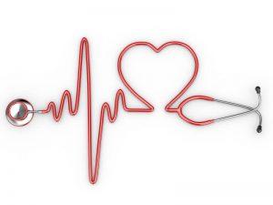 gorduras do bem estetoscópio-com-desenho-de-batimentos-cardiacos-ilustrando-qualidade-de-vida
